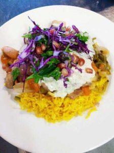 paella bio-végétarienne restaurant Pique-Prune