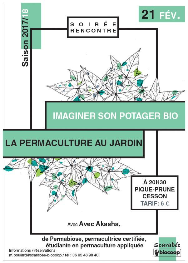 affiche conférence la permaculture au jardin