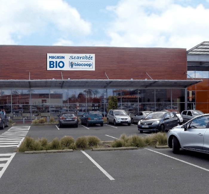 Photomontage projet de façade Scarabée Biocoop Vern-sur-Seiche