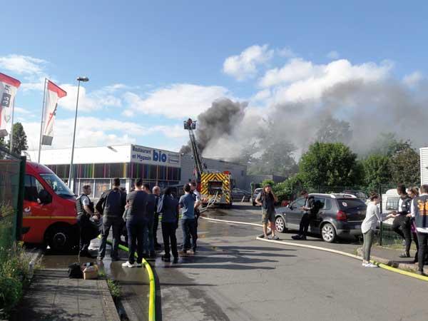 site Scarabée Biocoop Cesson incendie
