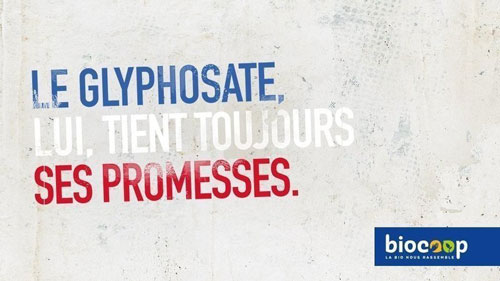 campagne Biocoop interdiction glyphosate