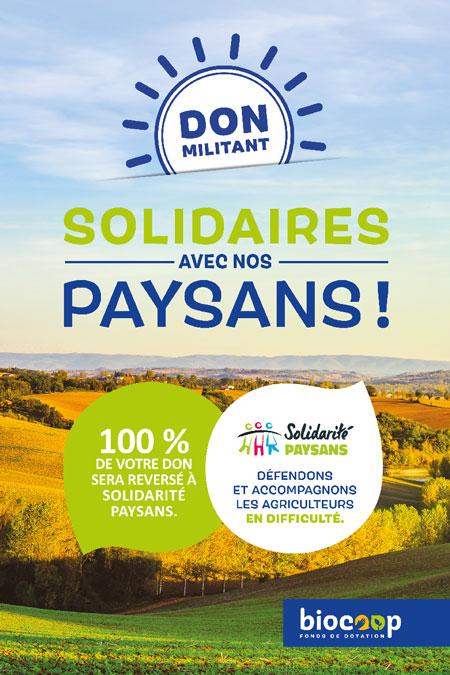 Solidarité paysans, nouveau bénéficiaire du don militant
