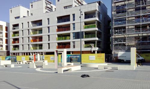 Les locaux en travaux du futur magasin Biocoop Scarabée métro Jacques Cartier