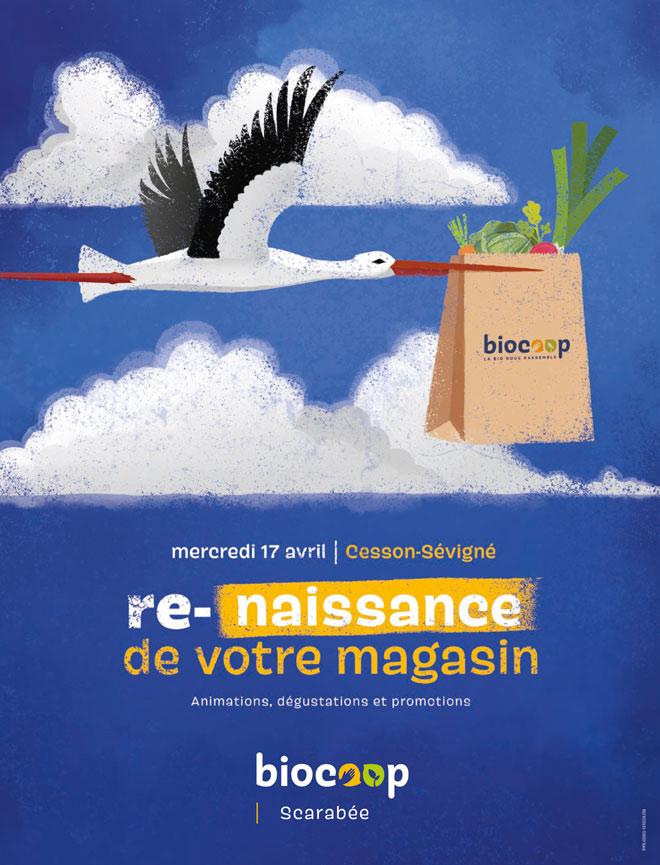 La communication annonçant la réouverture du magasin de Cesson.