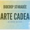carte cadeau ateliers Biocoop Scarabée