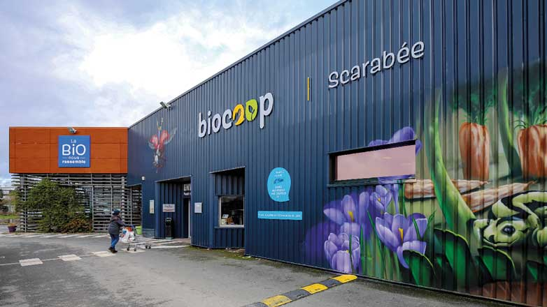 façade magasin Biocoop Scarabée Rennescleunay