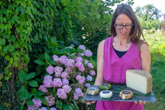 Marie-Line Lerous fromagère bio plateau fromages brebis